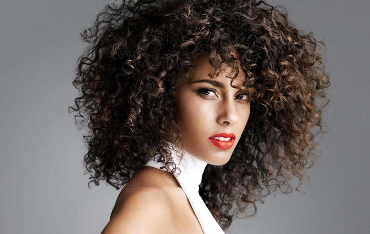 Highlights Woman Curly Hair